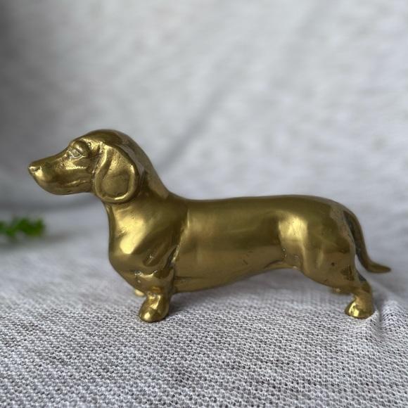 Brass Vintage Dachshund Figurine